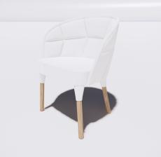 靠背椅27_Sketchup模型