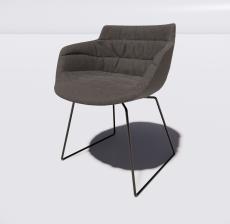 靠背椅29_Sketchup模型