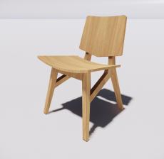 靠背椅33_Sketchup模型