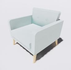 靠背椅38_Sketchup模型
