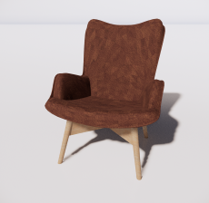 靠背椅39_Sketchup模型