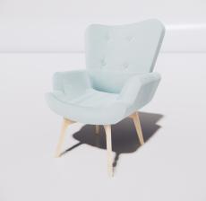靠背椅44_Sketchup模型
