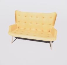 靠背椅46_Sketchup模型
