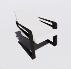 靠背椅4_Sketchup模型