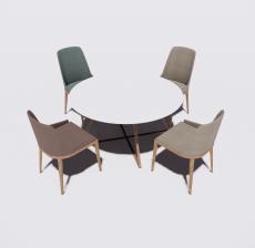 圆餐桌餐椅1_Sketchup模型