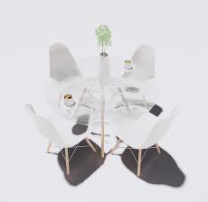 圆餐桌餐椅3_Sketchup模型