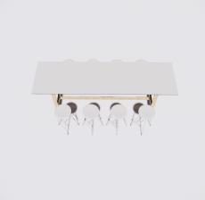 餐桌餐椅组合11_Sketchup模型