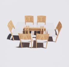 餐桌餐椅组合12_Sketchup模型