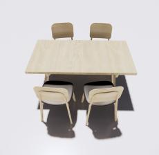 餐桌餐椅组合14_Sketchup模型