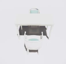 餐桌餐椅组合15_Sketchup模型