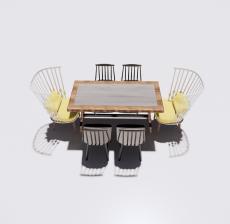 餐桌餐椅组合1_Sketchup模型