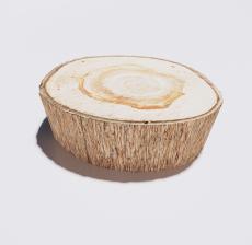 木头脚凳_Sketchup模型
