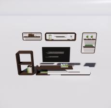 电视柜3_Sketchup模型