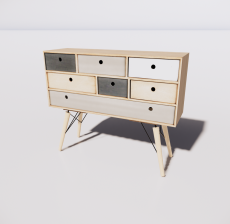 B-柜子4_Sketchup模型