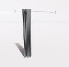 圆弧形花色窗帘_Sketchup模型