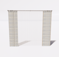 条纹窗帘_Sketchup模型
