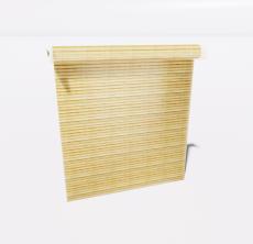 竹卷帘_Sketchup模型