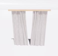 简约灰色窗帘_Sketchup模型