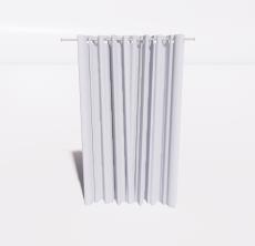 纯色窗帘_Sketchup模型