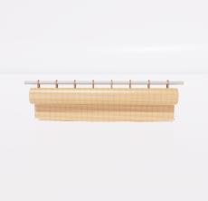 竹卷帘2_Sketchup模型