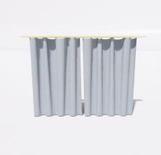 简约清新窗帘_Sketchup模型