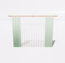 绿色窗帘2_Sketchup模型