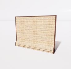 编织帘_Sketchup模型