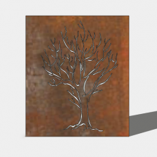 屏风隔断_012_Sketchup模型
