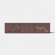 屏风隔断_017_Sketchup模型