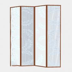 屏风隔断_100_Sketchup模型