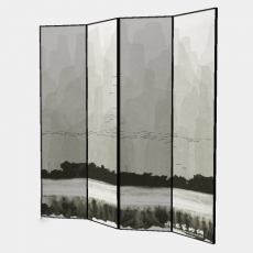 屏风隔断_104_Sketchup模型
