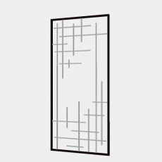 屏风隔断_124_Sketchup模型