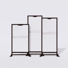 屏风隔断_19_Sketchup模型