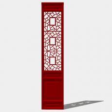 屏风隔断_27_Sketchup模型
