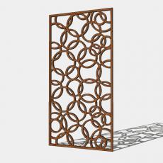 屏风隔断_54_Sketchup模型