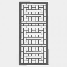 屏风隔断_81_Sketchup模型