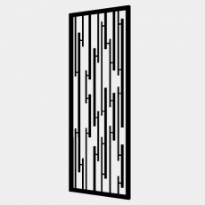 屏风隔断_89_Sketchup模型