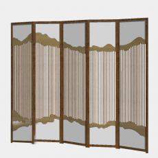 屏风隔断_99_Sketchup模型