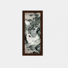 装饰画_01中式装饰画_Sketchup模型