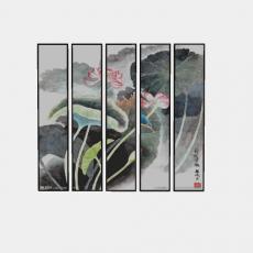 装饰画_014中式装饰画_Sketchup模型