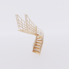 主体_楼梯16_Sketchup模型
