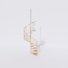 主体_楼梯5_Sketchup模型