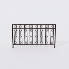 围栏_铁艺32_Sketchup模型