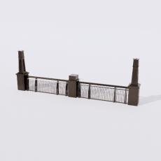 围栏_铁艺33_Sketchup模型