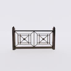 围栏_铁艺3_Sketchup模型