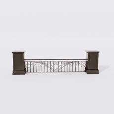 围栏_铁艺40_Sketchup模型