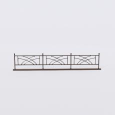 围栏_铁艺41_Sketchup模型