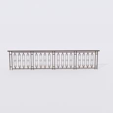 围栏_铁艺42_Sketchup模型