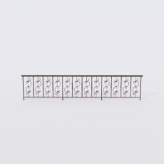 围栏_铁艺44_Sketchup模型