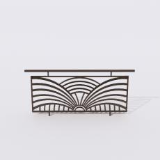 围栏_铁艺45_Sketchup模型